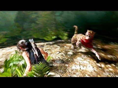 Shadow of the Tomb Raider — Jaguar Fight Gameplay Demo (PS4 Pro)